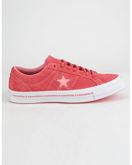 9c7b750bdec38f Converse - One Star Pinstripe Paradise Pink   Geranium Pink Mens Shoes for  Men - Lyst ...