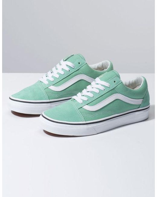30f8c784f2e9 Lyst - Vans Old Skool Womens Neptune Green   True White Shoes in Green