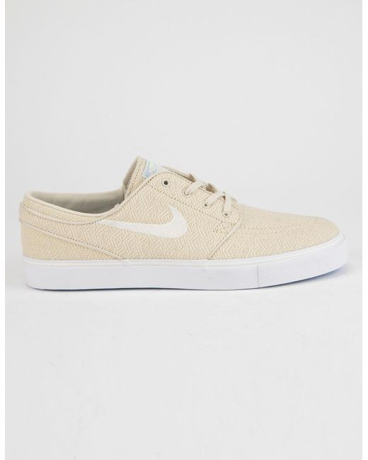 97649c54a1f9 Nike - Zoom Stefan Janoski Canvas Fossil   Sail White Mens Shoes for Men -  Lyst ...