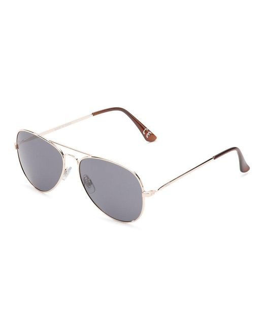 54cb860461 Vans - Metallic Fly South Aviator Sunglasses - Lyst ...