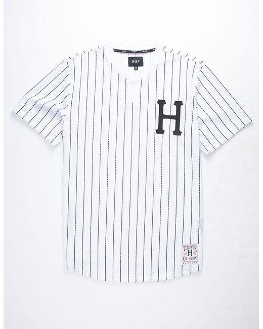 3fb0e7b0d088 Lyst - Huf Bronx Henley Mens Jersey in White for Men - Save 29%