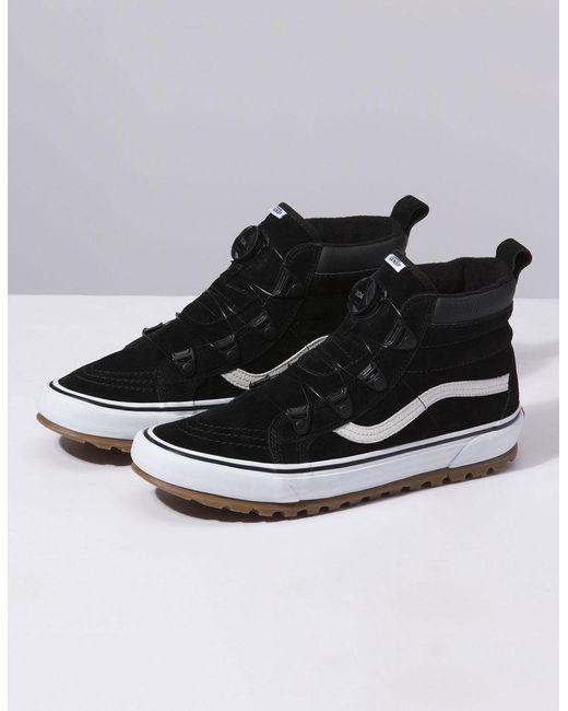 f5e42ccb900 Lyst - Vans Sk8-hi Mte Boa Black   True White Shoes in Black for Men