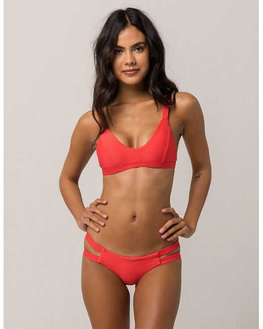 Tavik - Red Chloe Cheeky Bikini Bottoms - Lyst