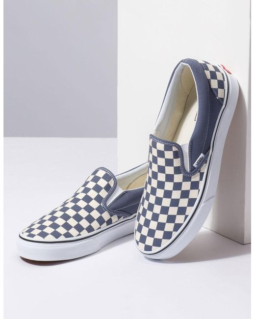 ... Vans - Checkerboard Grisaille   True White Classic Slip-on Shoes for Men  ... f1046f5f3