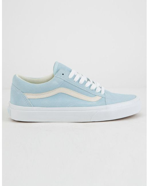 Lyst - Vans Pastel Suede Old Skool Crystal Blue Womens Shoes in Blue ea35fa4b4