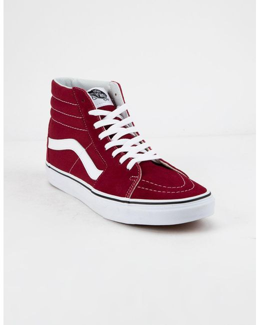 113cfe87b6b Lyst - Vans Sk8-hi Rumba Red   True White Shoes in Red
