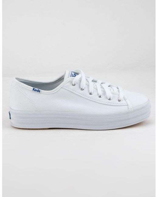 3231b1c0cbc Lyst - Keds Triple Kick White Womens Platform Shoes in White