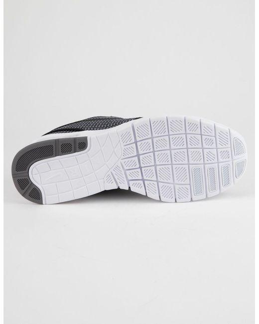 b4339f2a47 ... Nike - Gray Stefan Janoski Max Gunsmoke White   Black Shoes for Men -  Lyst