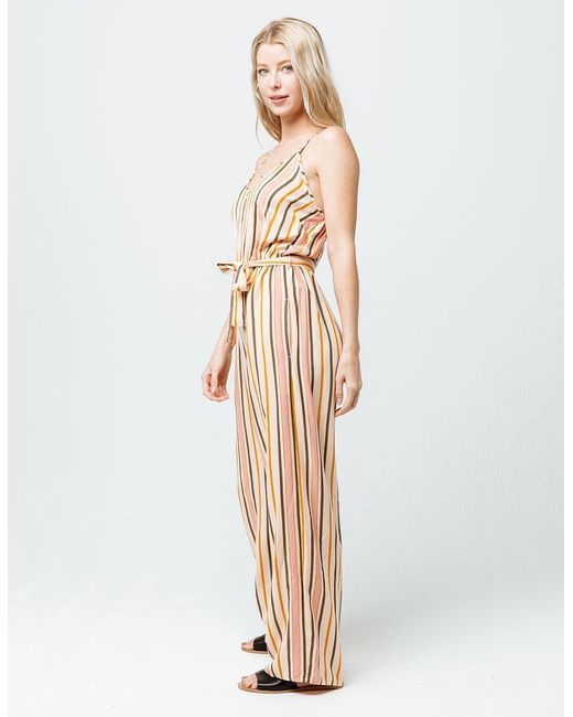 19a0474d02ce ... Roxy - Natural Cha Cha For Now Womens Jumpsuit - Lyst ...