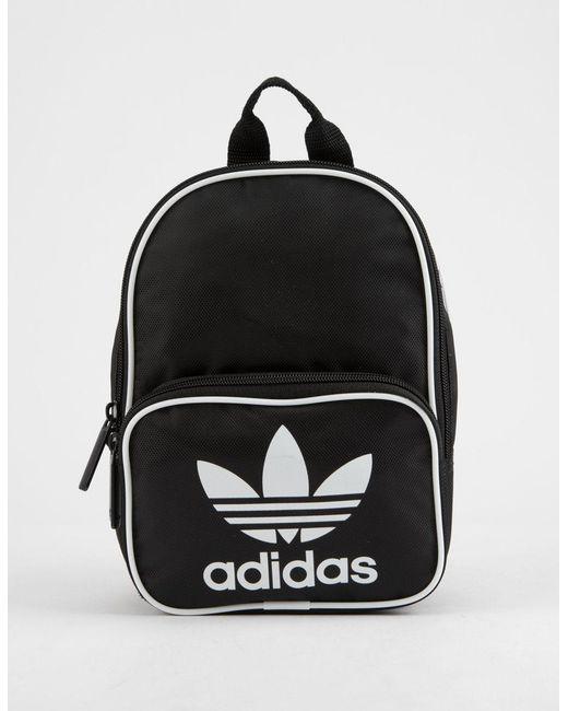 195cef9d5 adidas Originals Santiago Black Mini Backpack in Black - Lyst