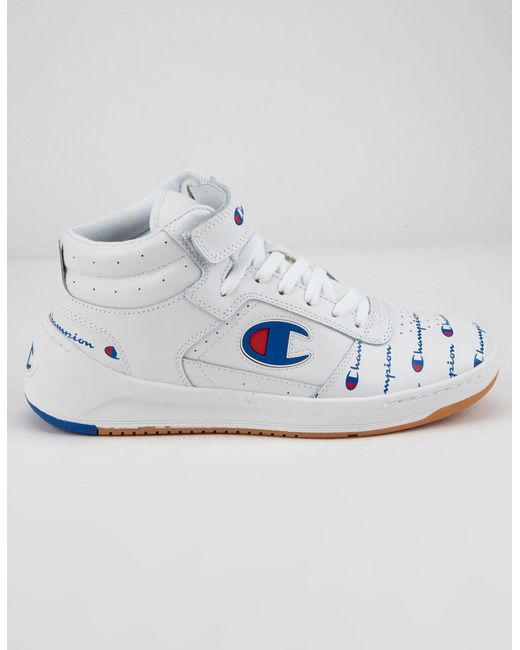 5abaec92f4d 3  4  5. Champion - White Super C Court High Top Sneakers - Lyst ...