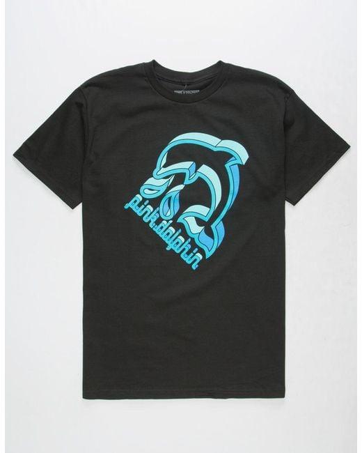 Pink Dolphin - Splash Emboss Black Mens T-shirt for Men - Lyst