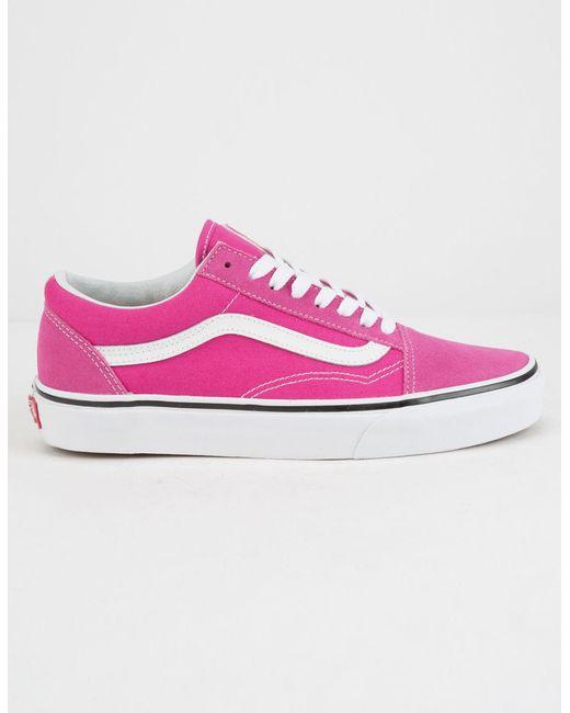 e9e6d17587 Vans - Multicolor Old Skool Very Berry   True White Womens Shoes - Lyst ...