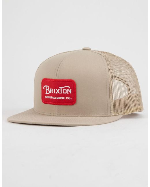 Brixton - Red Grade Mesh Mens Trucker Hat for Men - Lyst ... 89855fdb9359