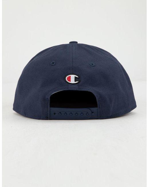 f6296232f73c7 Lyst - Champion Script Mens Snapback Hat in Blue for Men - Save 4%