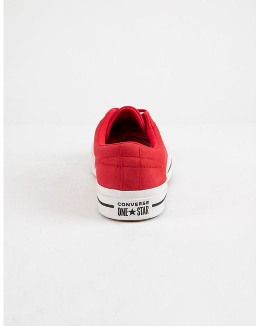 628c2bdf421a ... Converse - One Star Ox Cherry Red   Vintage White Womens Low Top Shoes  ...