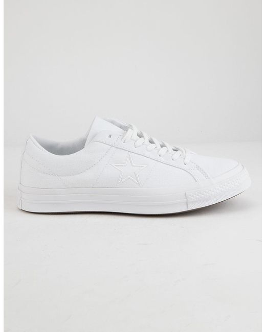 4830e935335d Lyst - Converse One Star Ox White Low Top Shoes in White