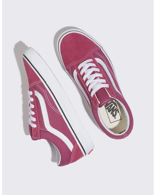 6b4e0846de4 ... Vans - Multicolor Old Skool Dry Rose   True White Womens Shoes ...