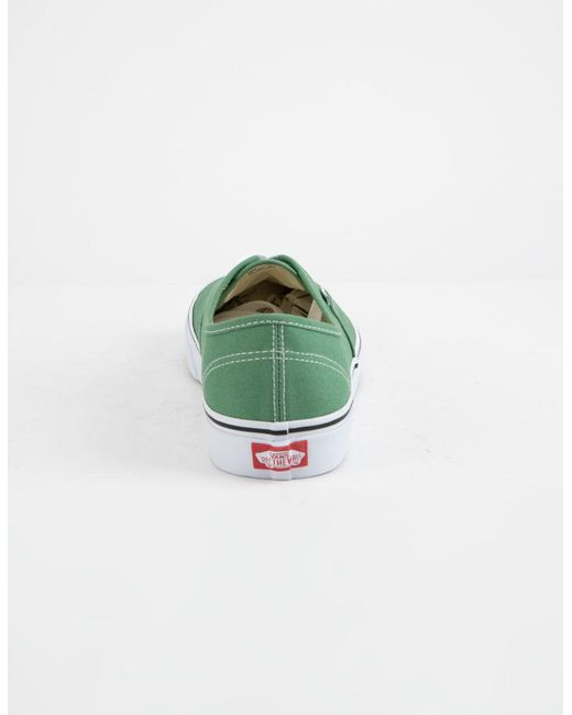 a72baa82a89d ... Lyst Vans - Authentic Deep Grass Green   True White Shoes for Men ...