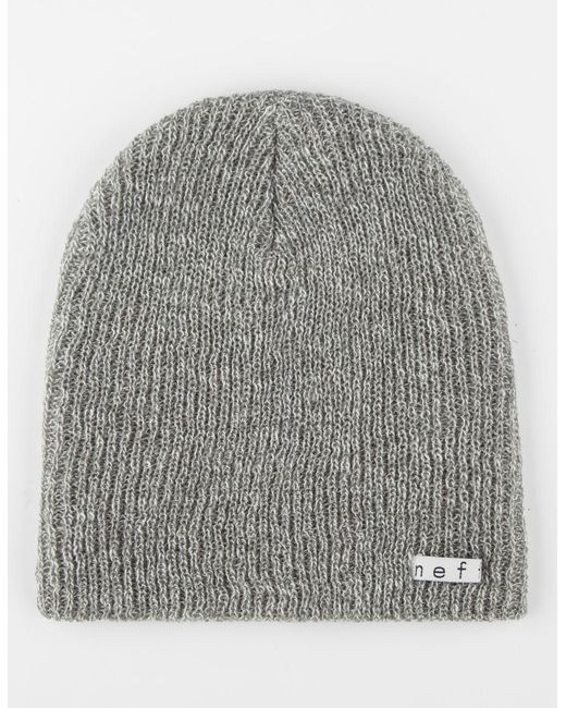 Lyst - Neff Daily Heathered Beanie in Gray for Men - Save 17% 011bc833e0ea