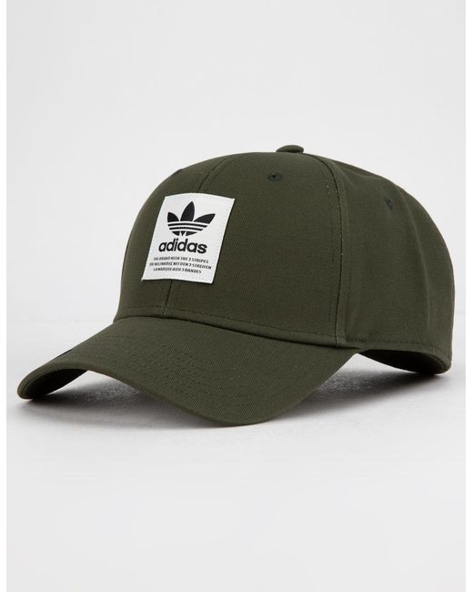 2001950c Adidas - Green Originals Trefoil Patch Night Cargo Mens Snapback Hat for Men  - Lyst ...