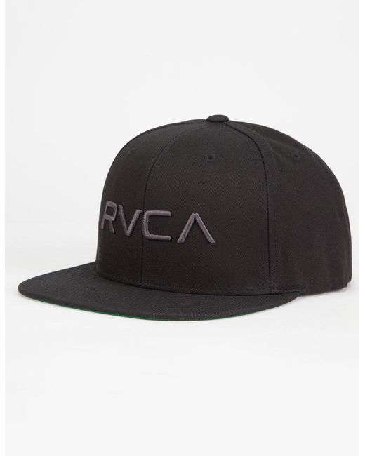 RVCA - Black Twill Iii Mens Snapback Hat for Men - Lyst