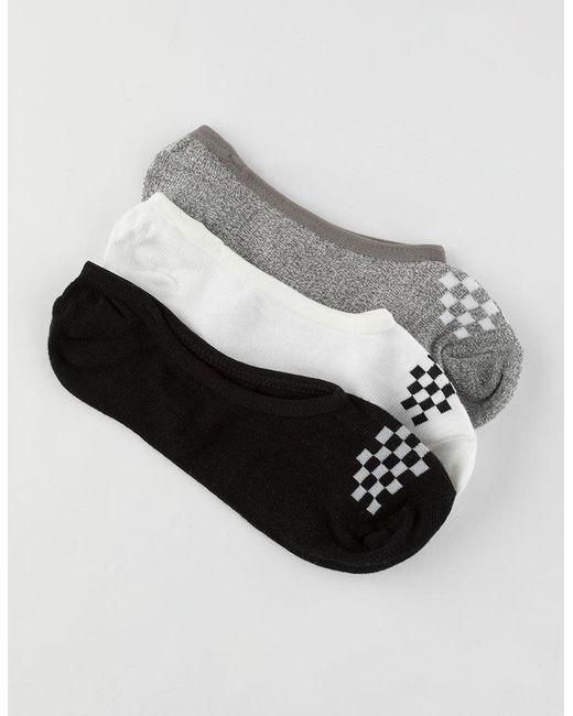 Vans - Gray 3 Pack Basic Womens Canoodle Socks - Lyst