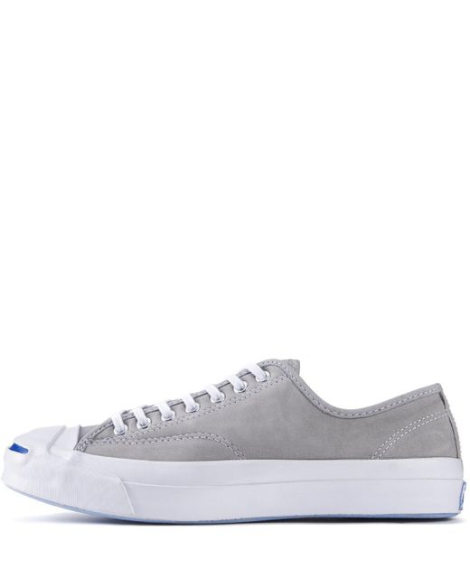 80c06098d87a90 Converse - Jack Purcell Signature Nubuck Dolphin White Sneakers for Men -  Lyst ...