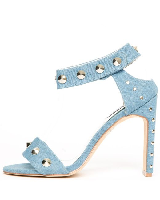 Cape Robbin Blue Jen-17 Denim High Heels