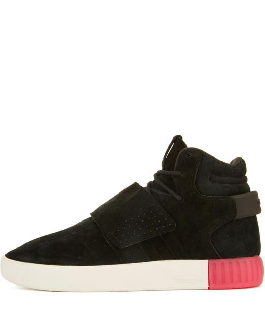 Lyst - adidas Tubular Invader Black black Strap Sneakers in Black 6851006c4