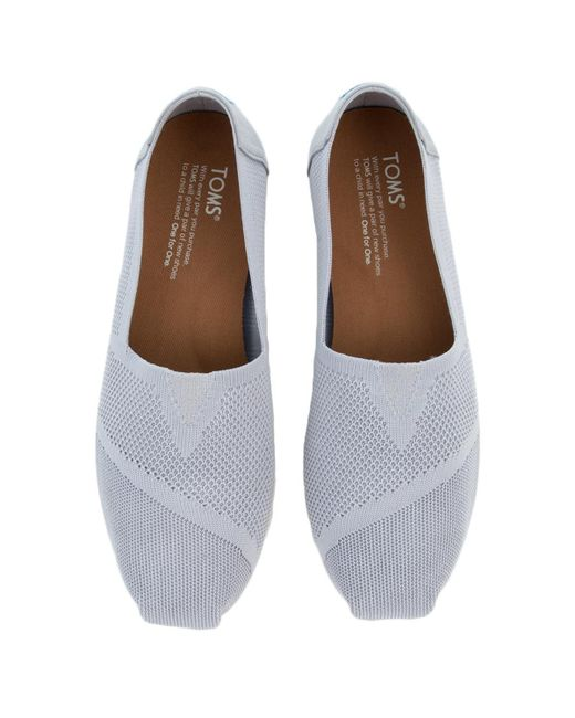 7526611376c ... TOMS - Gray Tom Classic Drizzle Grey Custom Knit Flats - Lyst ...