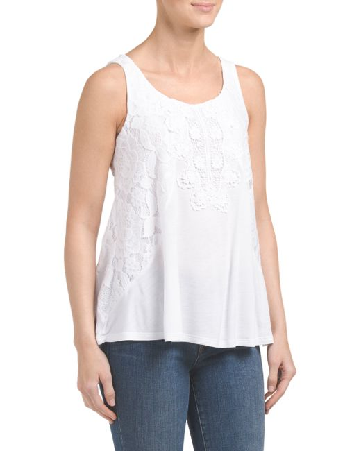 Tj Maxx Sleeveless Top With Crochet In White Save 50 Lyst