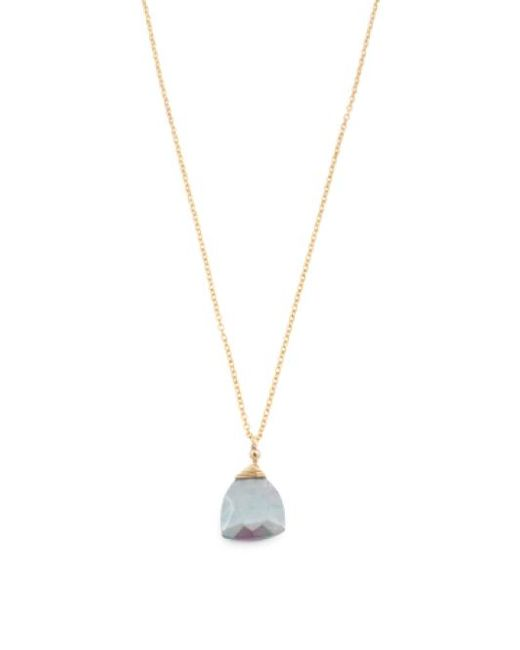 Tj Maxx | Metallic Made In Usa Coated Grey Moonstone Gold Filled Necklace | Lyst