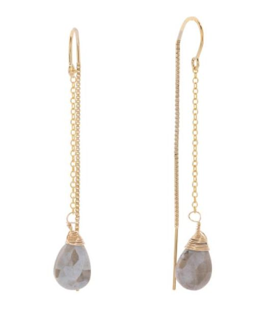 Tj Maxx | Metallic Made In Usa Coated Grey Moonstone Gold Filled Earrings | Lyst