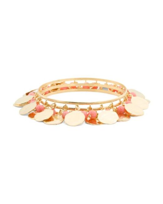 Tj Maxx | Metallic Made In Italy Coral Martellato Charm Bracelet | Lyst
