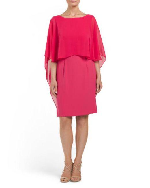 Tj Maxx - Pink Chiffon Popover Dress - Lyst