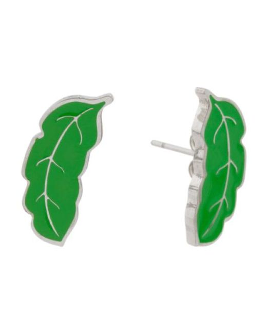Tj Maxx   Green Designed In Uk Enamel Palm Leaf Earrings   Lyst