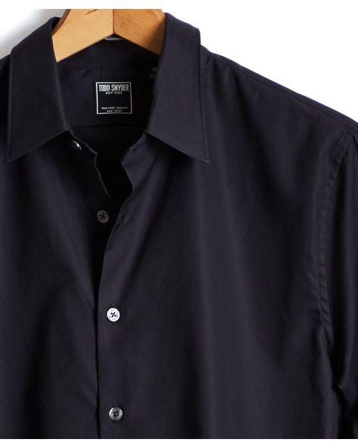 Todd Snyder - Albiate Italian Royal Oxford Point Collar Shirt In Black for Men - Lyst