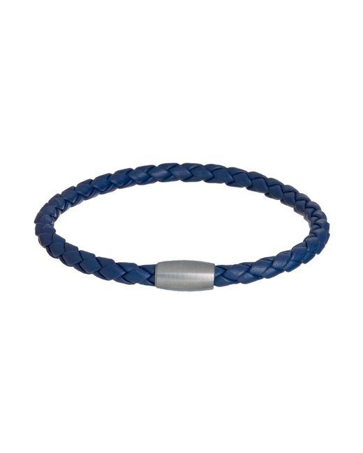 Jan Leslie | Woven Leather Bracelet Magnet Closure In Blue | Lyst