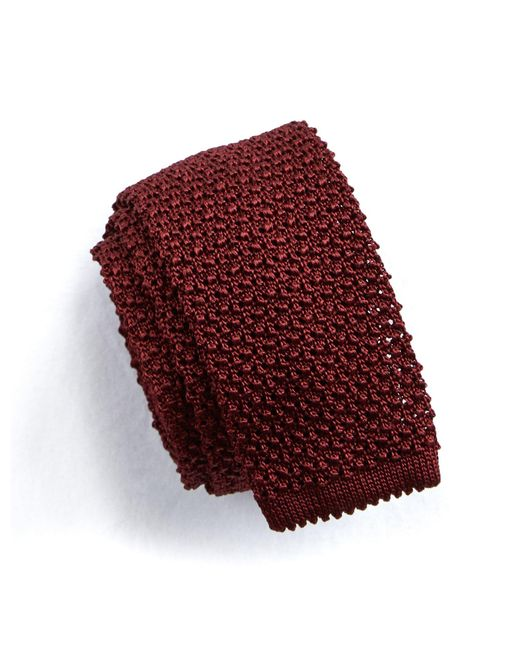 Todd Snyder   Red Classic Knit Silk Tie In Maroon for Men   Lyst