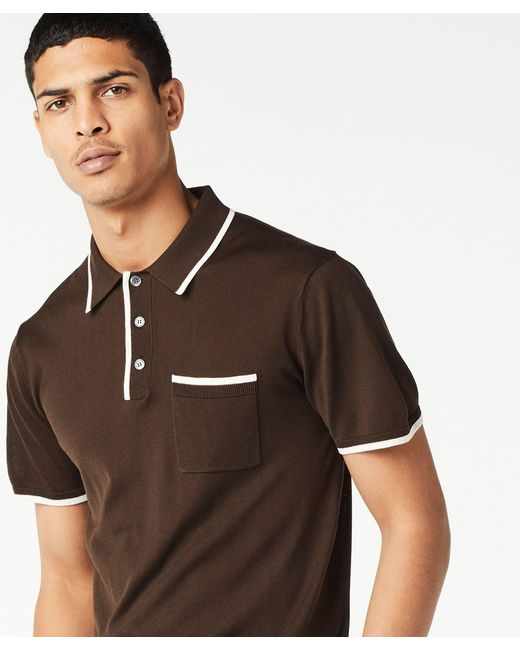 Lyst Todd Snyder Italian Silk Cotton Tipped Knit Polo In