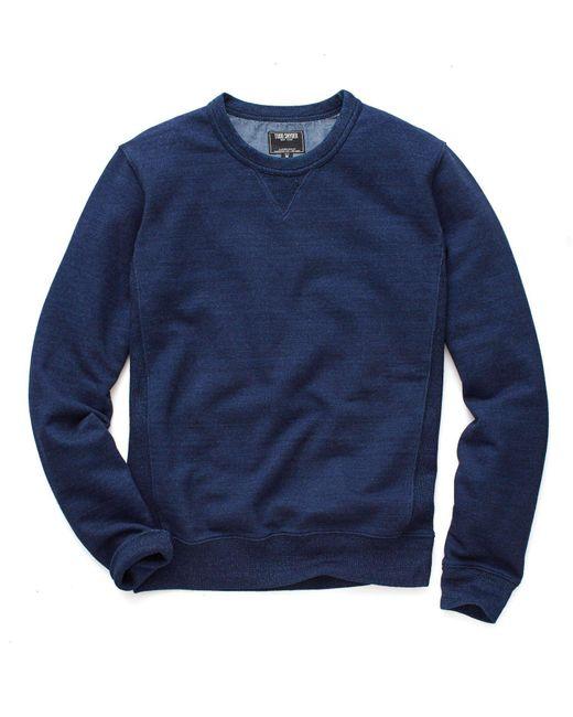 Todd Snyder - Blue Indigo Crew Sweatshirt In Indigo for Men - Lyst