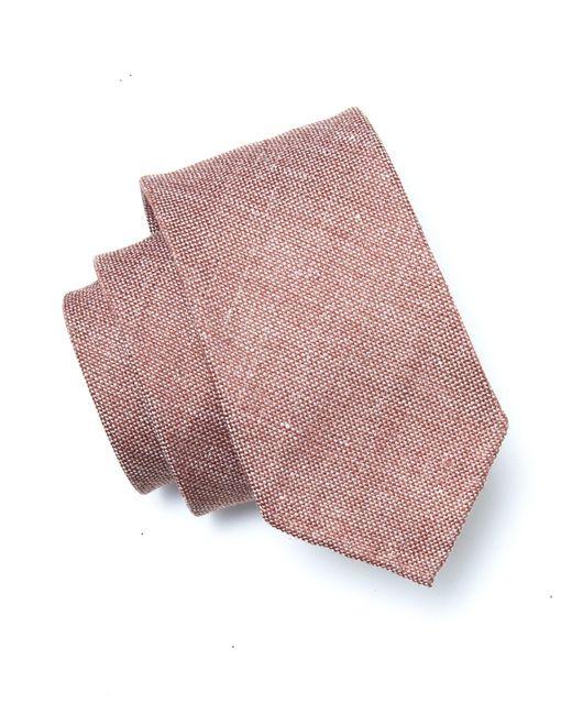 Drake's - Linen Weave Tie In Red for Men - Lyst