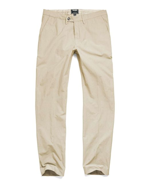 Todd Snyder - Natural Hudson Tab Front Chino Pant In Khaki for Men - Lyst