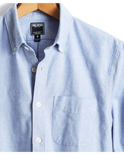 Todd Snyder | Japanese Selvedge Oxford Shirt In Blue for Men | Lyst