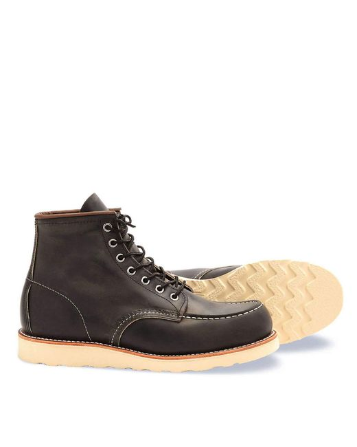 Red Wing | Black Red Wing Heritage Moc Boot In Charcoal Rough & Tough Leather for Men | Lyst
