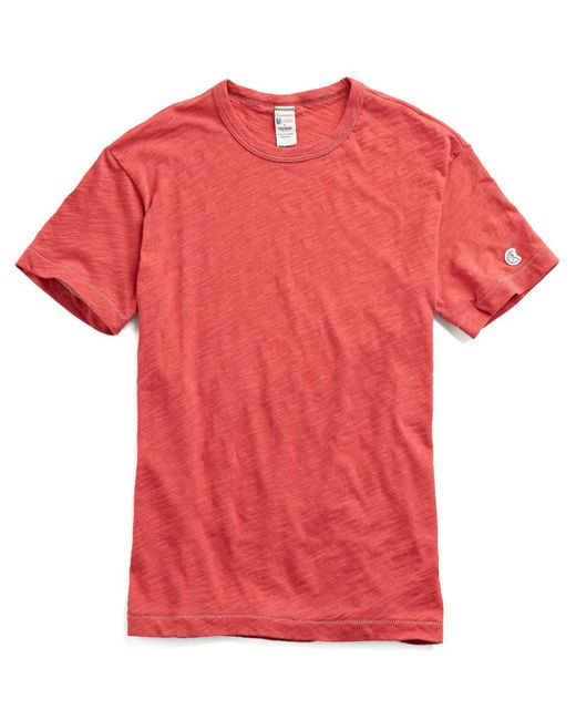 Todd Snyder - Champion Classic T-shirt In Faded Red for Men - Lyst