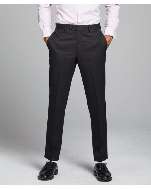 Todd Snyder Sutton Suit Pant In Italian Natural Stretch Black Wool for men