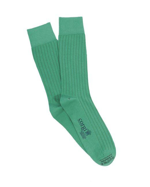 Corgi - Solid Lightweight Cotton Blend In Green for Men - Lyst