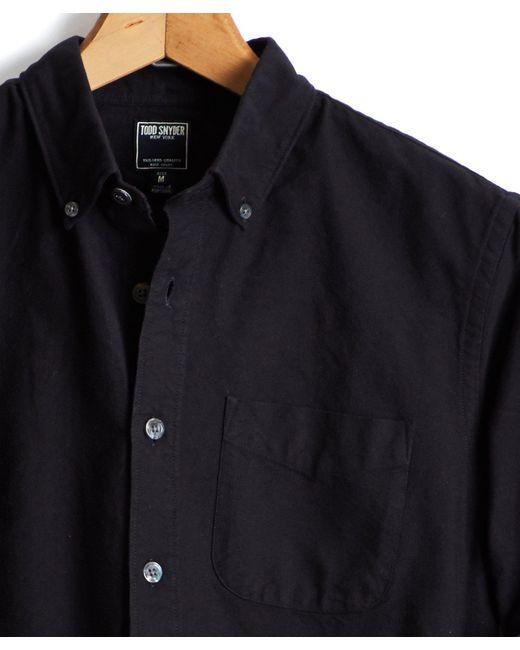 Todd Snyder - Japanese Selvedge Oxford Shirt In Black for Men - Lyst
